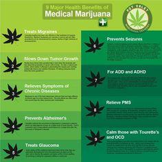 9 Major health benefits of medical marijuana! #PotValet #Medical #Marijuana #Cannabis #Weed #Health #Benefits