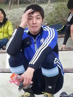 13.03.31 Kim Hyun Joong @ Soccer Game for FC Avengers - haha, what's with that expression?
