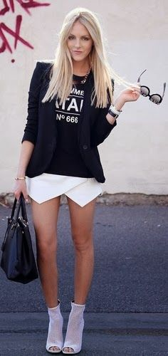 Crazy summer mini dress and black casual jacket | Fashion and styles