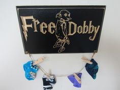 Engraved Lost Socks Laundry Room CNC Carved Hanger Craft Sign - Harry Potter Inspired - Free Dobby - House Elf - Hogwarts - Muggle - Wizard by AllyBoosCreations on Etsy https://www.etsy.com/listing/276773112/engraved-lost-socks-laundry-room-cnc