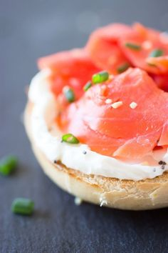 Mini Bagels and Lox - great for a brunch party.