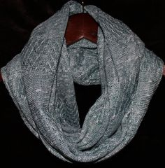 Solid Jacquard Fancy Sweater Knit Infinity Scarf on Etsy, $13.00