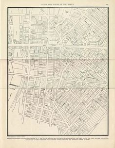 ROCHESTER NY City Map - 1935 Vintage Colliers World Atlas and Gazetteer Book Page