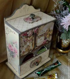 """Купить Чайный буфетик """"Чайные розы"""" - роза, винтаж, бежевый, розы, винтажный стиль, чаепитие"""