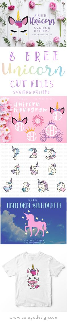 6 FREE unicorn SVG cut files. compatible with Cric…  - https://buyantlerchandelier.com