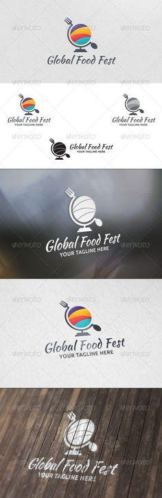 Food Festival - Logo Template: Food Logo Design Template by martinjamez. Food Logo Design, Logo Food, Logo Design Template, Logo Templates, Food Template, Festival Logo, Food Festival, Egg Logo, Mobile Logo