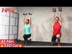 (4) 45 Min Total Body Strength Workout for Women & Men - Home Weight Training Full Body Dumbbell Workout - YouTube