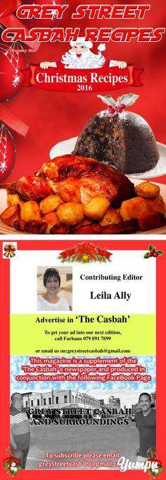 Grey Street Casbah Recipes Christmas 2016 - Magazine with 18 pages: Recipe magazine. Recipe Magazine, Food Handling, Christmas 2016, Meal Ideas, Meals, Gray, Street, Recipes, Ash