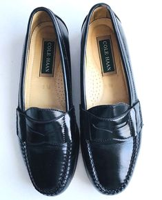 e5e96bcea8ab2 Cole Haan Penny Loafers Shoes Slipon Black Leather Womens US 8.5 D EUR 39  E73503 #fashion #clothing #shoes #accessories #womensshoes #flats (ebay  link)