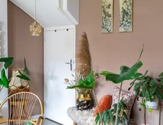 Gordijnen voor een dakraam (budget slaapkamer make-over deel 2) | Styled by Sabine Apartment Living, Living Room, New Homes, Interior Design, Green, Design Bedroom, Boho, Style, Nest Design