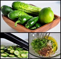 ingredients for jalapeno lime cucumber salad