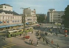 Gustav Adolfs Torg Back In The Day, Old Photos, Sweden, Louvre, Street View, Building, Times, Travel, Cars