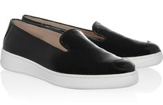 This week's shoe of the week comes in the patent-leather, monochromed shape of Katie Grand's reimagined Hogan loafers