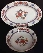 The Regent Collection Old Imari 2 Piece Set Yung Shen China Platter Serving Bowl