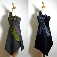 Bespoke Tie Dress Made to Measure Your choice of by ENIENAY