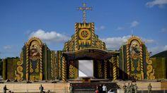 Yo me lo guiso.: Altar de MAIZ, para el papa Francisco en Paraguay,...