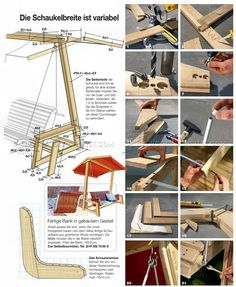 DIY Garden Swing - Outdoor Furniture Plans