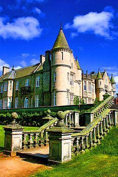 North-west corner of Balmoral Castle in Scotland