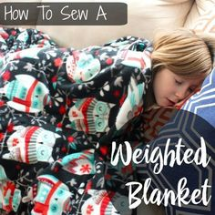Learn to sew a weighted blanket! May be beneficial for those with autism, anxiety, and sensory processing disorders. Free video tutorial.