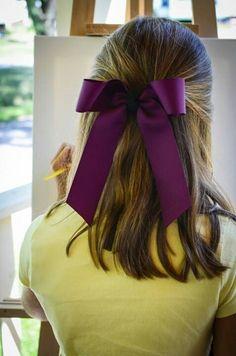 Artist - Hair bow - Purple long tail