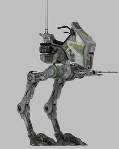 AT-RT. The All Terrain Recon Transport (AT-RT) was a emergency one-man bipedal… Nave Star Wars, Star Wars Ships, Star Wars Clone Wars, Star Trek, Maquette Star Wars, At Rt, Galactic Republic, Star Wars Vehicles, Star Wars Concept Art