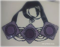 Handcrafted purple necklace