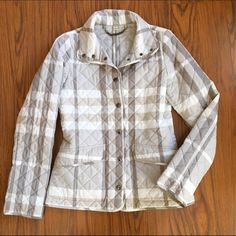 Burberry Quilted Spring Jacket Light weight & beautifully fitted lightweight jacket. 100% Polyester. Like new. Burberry Jackets & Coats Blazers