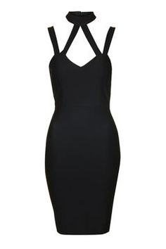 **Strappy Cage Bodycon Dress by Rare Asos, Topshop, Bodycon Dress, Cage, Shopping, Clothes, Collection, Black, Dresses