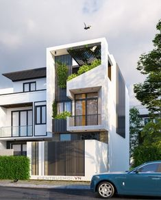 House Front Design, Modern House Design, Narrow House Designs, Entertainment Wall, Bathroom Interior Design, Home Fashion, Townhouse, Facade, New Homes