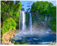 Beautiful Waterfalls in Chiapas - Mexican Landscape Art by Mark E Tisdale - Cascadas de Misol Ha