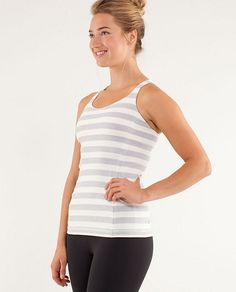 Free To Be Tank  $58  from Lululemon  size 6 (in silver slate)