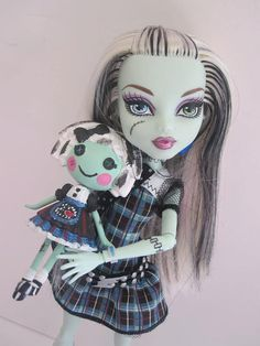 Lalaloopsy Mini as Monster High Custom Doll by arkohio on Etsy