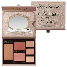Too Faced - Natural Face Natural Radiance Face Palette #sephora 39$