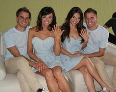 twins marrying twins. Emily Winkler let's go