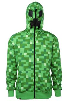 Adult Minecraft Creeper Hoodie #Gift #Idea #Geeky