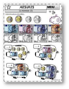 les euros, petits problèmes mercantiles | La monnaie ce1, Jeux calcul et Rendre la monnaie