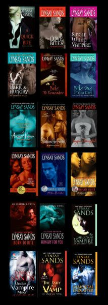 Favorite vampire series! It's got a cool twist. Check it out. www.Lynsaysands.net