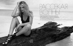 Breaking The Waves in Elle Russia with Anne Vyalitsyna wearing DKNY,Pierre Hardy,Prabal Gurung - - Fashion Editorial Breaking The Waves, Pierre Hardy, Prabal Gurung, Beachwear, Swimwear, Editorial Fashion, Russia, Fashion Photography, Swimming