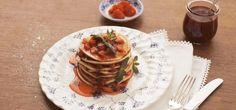 Pancakes con mermelada casera