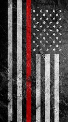 Black American Flag - iPhone Wallpapers