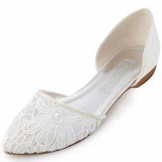 Die 11 Besten Bilder Von Brautschuhe Flach Bride Shoes Flats Flat