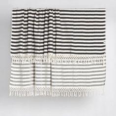 Tribal Candy Stripe Square Beach Blanket/Throw