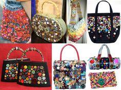 bolsos con botones de colores