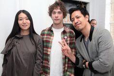 Miho Aoki Thuy Pham of United Bamboo and Andrew VanWyngarden of MGMT