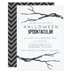 Crooked Branch Halloweed Spooktacular Card - invitations custom unique diy personalize occasions