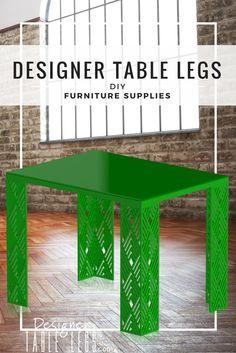 Luxor Diamond Green Table Legs - www.designertablelegs.com - DIY Furniture Supplie sIkea Hacks
