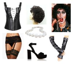 """""""""""The Rocky Horror Picture Show"""" Dr. Frank N Furter Costume"""" by oliviaf14 ❤ liked on Polyvore featuring Maidenform, Miu Miu and Paul Frank"""