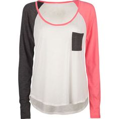 simple pink,grey and white long sleeve shirt