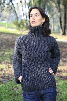 Knitting inspiration. SCULPTURE SWEATER by NihanAltuntas on Etsy garter stitch side to side.