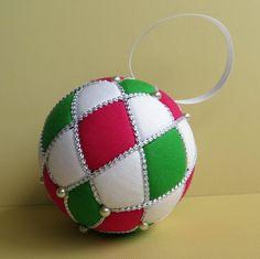 Kimekomi Ornament Tutorial  Argyle by OrnamentDesigns on Etsy